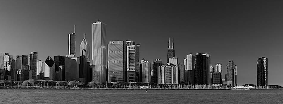 Lakefront Chicago B W by Steve Gadomski