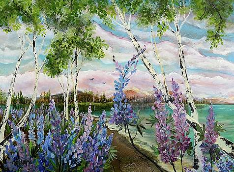 Lakeside Lupin by Sandra Day