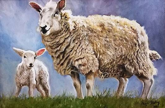 Lamb with Mom by Arion Megid Khedhiry