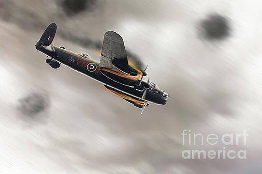 Simon Bratt Photography LRPS - Lancaster bomber on fire crashing
