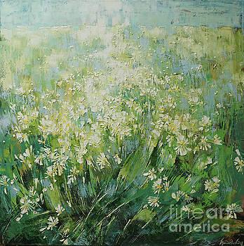 Landscape. Get lost in a field of daisies by Anastasija Kraineva