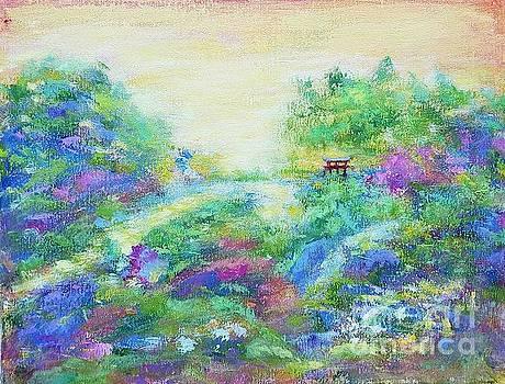 Landscape in the botanical garden by Olga Malamud-Pavlovich