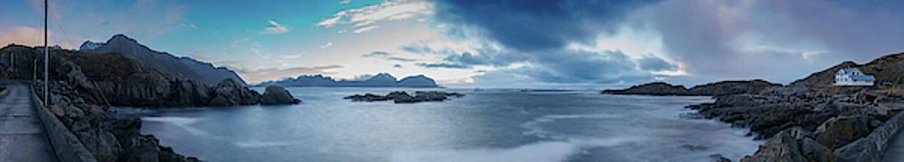 Landscape in the Lofoten islands by Kai Mueller
