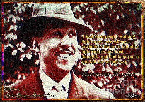 Langston Hughes Quote on People Walking Tightropes by Aberjhani