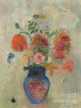 Odilon Redon - Large Vase with Flowers, circa 1912