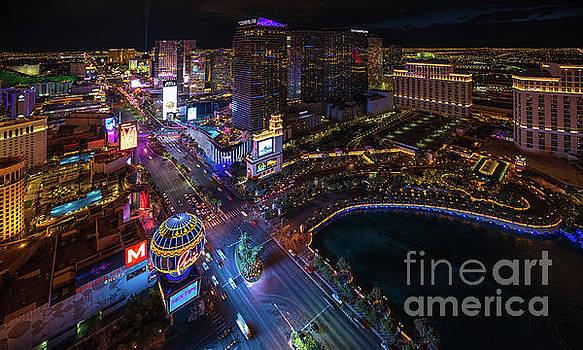 Las Vegas Photography Night Strip by Mike Reid