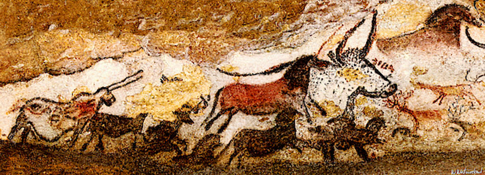 Weston Westmoreland - Lascaux Hall of the Bulls - Running from the Hunters