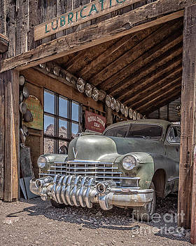 Last Chance Gas Vintage Car Abandoned Gas Station by Edward Fielding