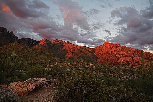 Chance Kafka - Last light on Catalina Mountains
