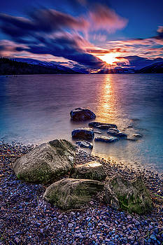 Last Light on Loch Ness by John Frid