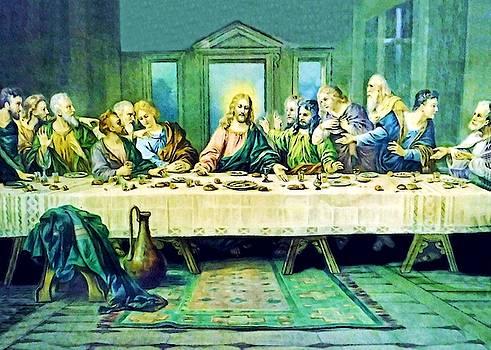 Last Supper in Green by Munir Alawi