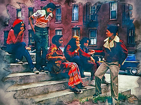 Latin youths N.Y.C. 1970s by Kai Saarto