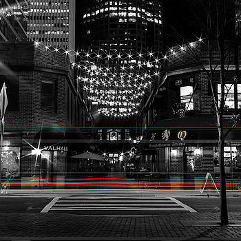 Latta Arcade With Red Stripes by Christine Buckley
