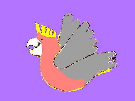 Laughing Galah 1 Purple by Lexa Harpell