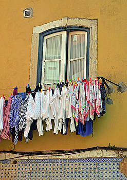 Laundry Day in Lisbon by Kathy Yates