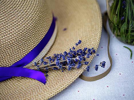 Lavender Hat by Rebecca Cozart