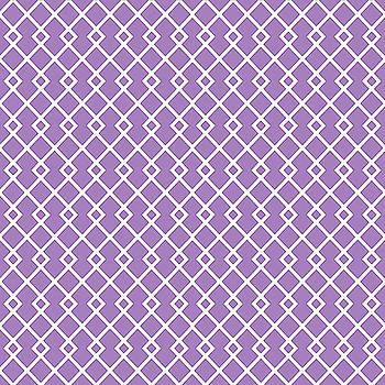 Lavender Purple Diamond Pattern by Ross