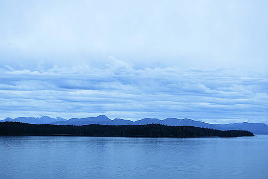Layers of Blue in Alaska by Connie Fox
