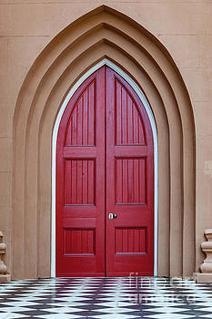 Dale Powell - Layers of Entry - Red Church Door