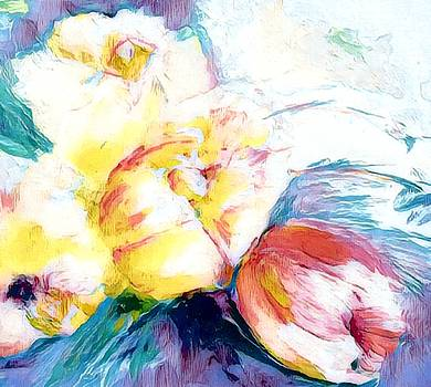 Laying Together Loose Floral Four  by Lisa Kaiser