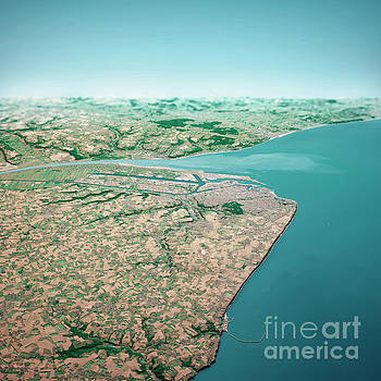 Frank Ramspott - Le Havre France 3D Render Aerial Horizon View From North Jul 201