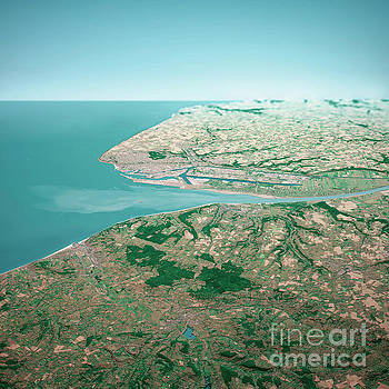 Frank Ramspott - Le Havre France 3D Render Aerial Horizon View From South Jul 201