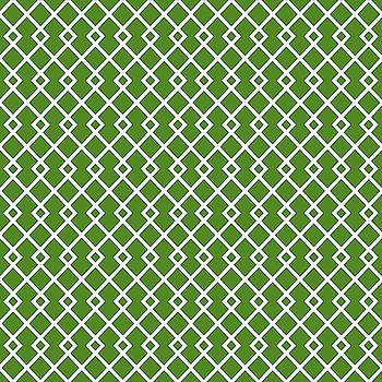Leaf Green Diamond Pattern by Ross