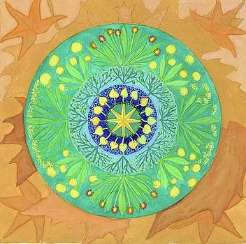 Leaf Mandala by Sandy Thurlow