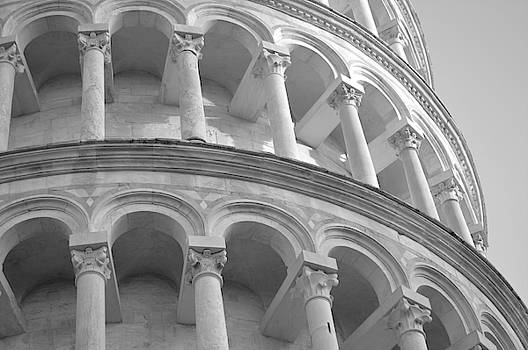Marla McPherson - Leaning Tower in Black and White