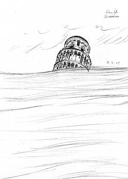 Andrea Gatti - Leaning Tower of Pisa drawing