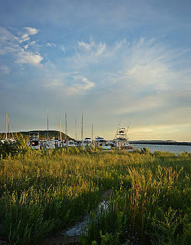 Leland Harbor At Sunset by SimplyCMB