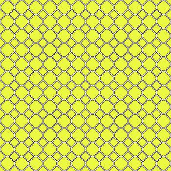 Lemon Yellow Clover Pattern by Ross