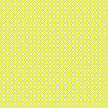 Lemon Yellow Diamond Pattern by Ross