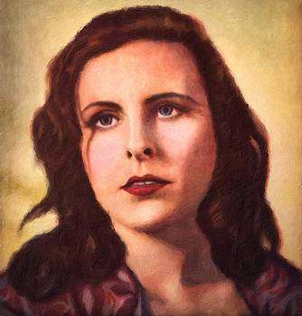 Leni Riefenstahl portrait by Vincent Monozlay