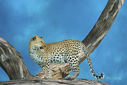 Leopard on the Lookout 5.0 by Kay Kochenderfer