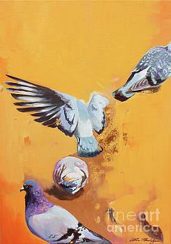 Les 4 Pigeons  by Lin Petershagen