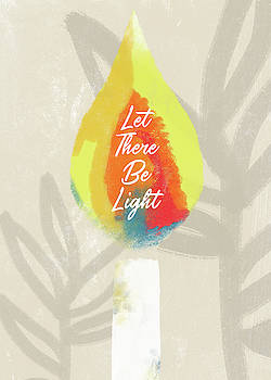 Let There Be Light Candle- Art by Linda Woods by Linda Woods