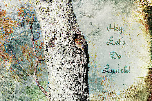 Let's Do Lunch Greeting Card by Linda Cox