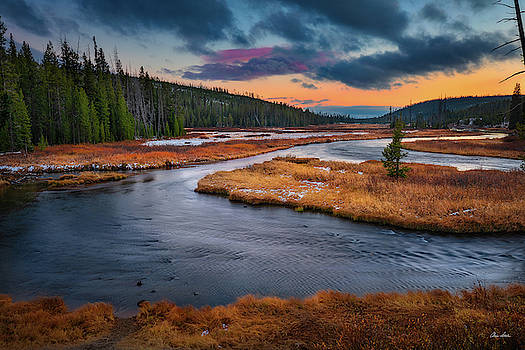 Chris Steele - Lewis River Sunset