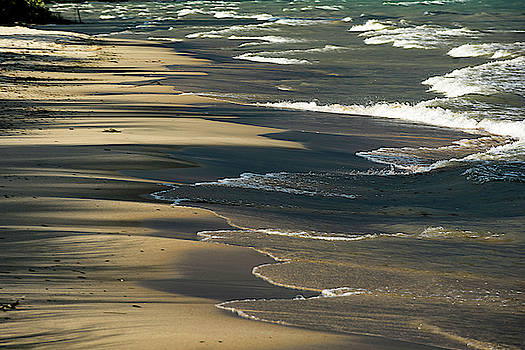 Light and Shadow on the beach 1 by Tom Clark