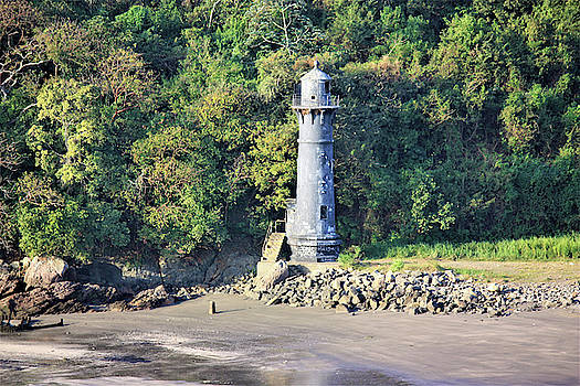 Light House - Panama Canal  by Deborah Kinisky