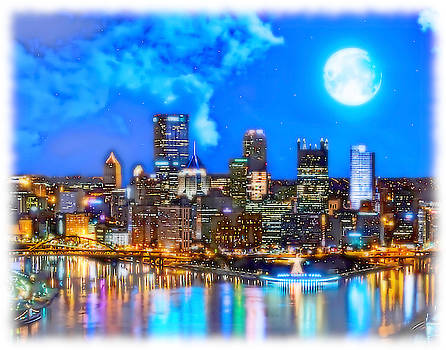 Light Up Night in Pittsburgh by Charles Ott