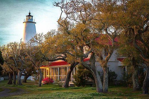 Lighthouse Ocracoke Island by Cindy Lark Hartman