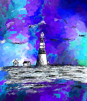 Lighthouse seascape by Abstract Angel Artist Stephen K