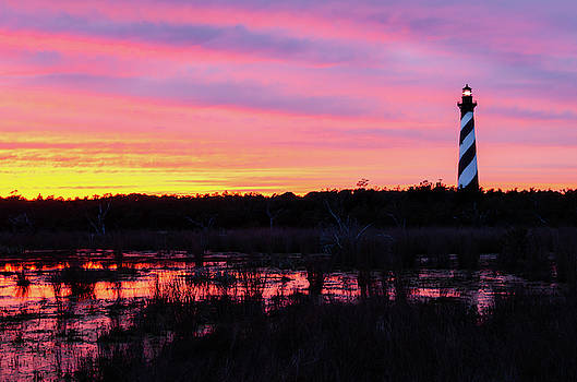 Lighthouse Sunset by Mike O'Shell