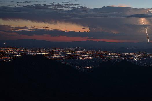 Chance Kafka - Lightning over Tucson, Arizona