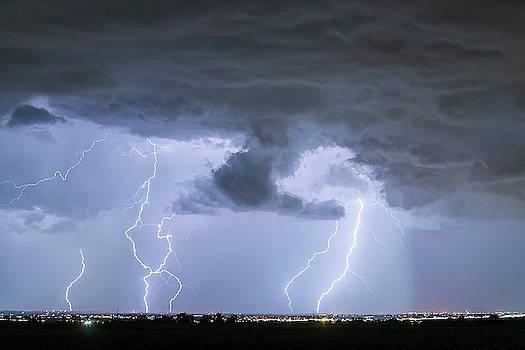 Lightning Striking Firestone Colorado 2 by James BO Insogna