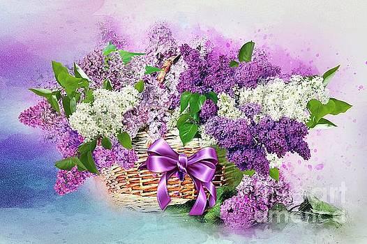 Lilac  in a Basket by Morag Bates
