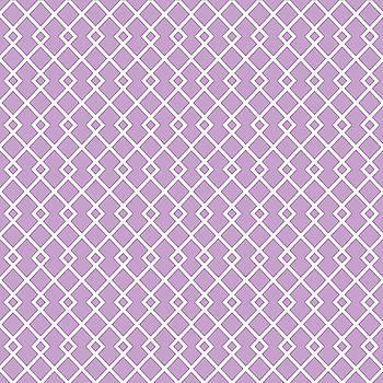 Lilac Purple Diamond Pattern by Ross