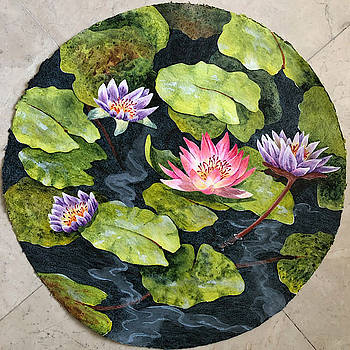 Lily Pad Sphere 1 by Nancy Goldman